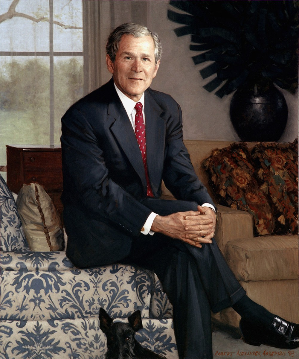 world of portrait painting george w bush by robert anderson